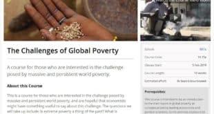 Challenges of Global Poverty on EdX
