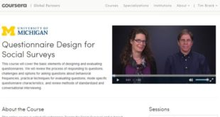 Questionnaire design MOOC